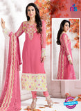 NS10736 Pink and Ivory Georgette Party Wear Straight Suit