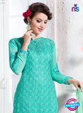 NS10738 Sky Blue Georgette Party Wear Straight Suit