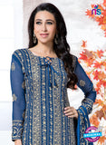 NS10743 Royal Blue Georgette Party Wear Straight Suit