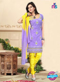 NS10749 Light Pureple and Yellow Daily Wear Chanderi Salwar Suit