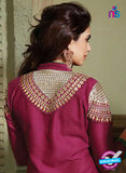 NS10757 Maroon and Sandy Brown Pure Cotton Daily Wear Long Straight Suit Online