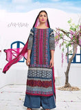 Jay Vijay 1423 Multicolor Color Cotton Lawn Designer Suit