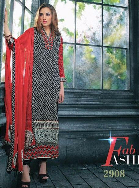 Jay Vijay 2908 Black Color Cotton Designer Suit with Dupatta