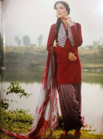 Jinaam 8289 B Maroon Color Cotton Designer Suit