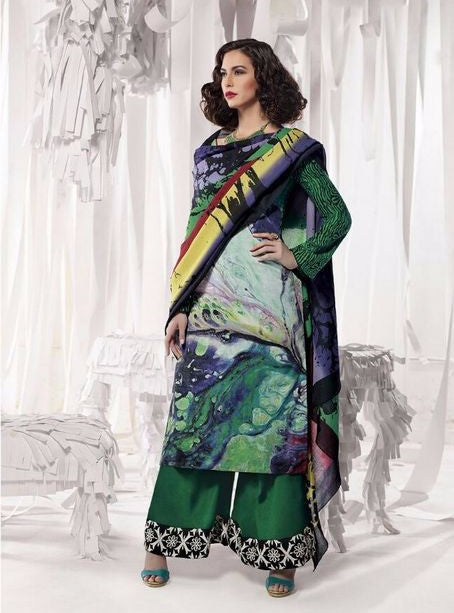 Jinaam 8328 Green Color Pashmina Designer Suit