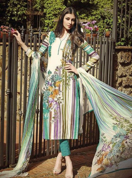 Jinaam 8409 Sea Green Color Cotton Designer Suit