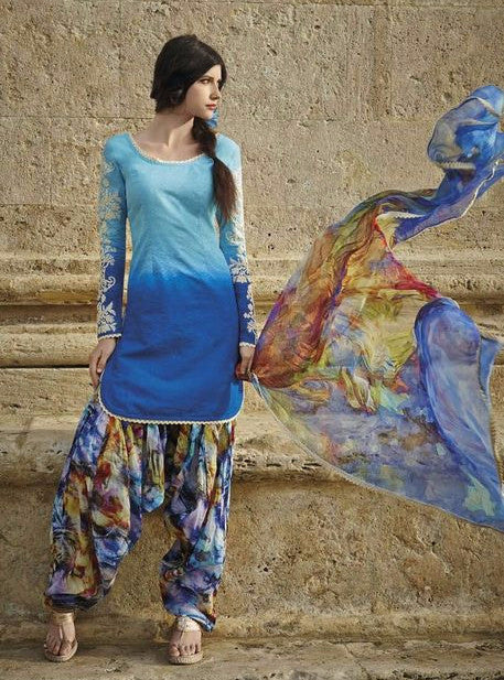 Jinaam 8431 Blue Color Lawn Cotton Designer Suit