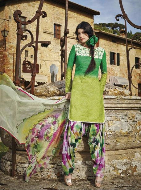 Jinaam 8432 Green Color Cotton Designer Suit
