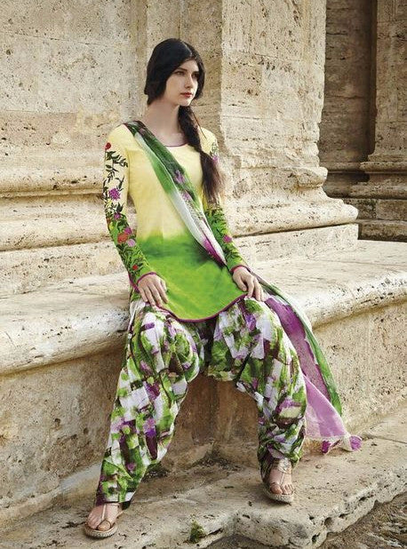 Jinaam 8436 Green Color Cotton Designer Suit