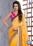 NS10829 Mgenta and Orange Wedding Wear Georgette Saree