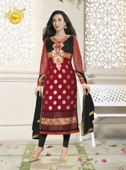 Shree Fashion 5901 F  Red Color Georgette Long Designer Suit