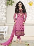 Shree Fashion 5901 G  Pink Color Georgette Long Designer Suit