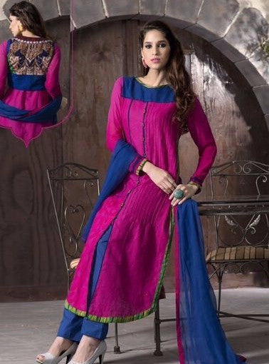 NS10926  Pink Color Pakistani Style Cotton Designer Suit