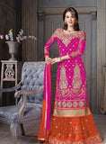 NS10928  Pink Color Crape Silk Designer Anarkali Suit