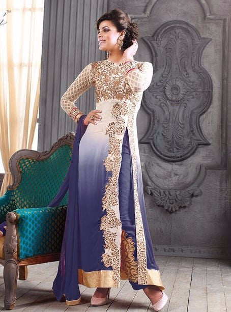NS10929  White Color Georgett Designer Suit