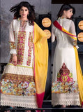NS10612  White Color Georgette Long Designer Suit
