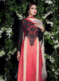 NS10951  Red and Black Cotton Satin Designer Suit