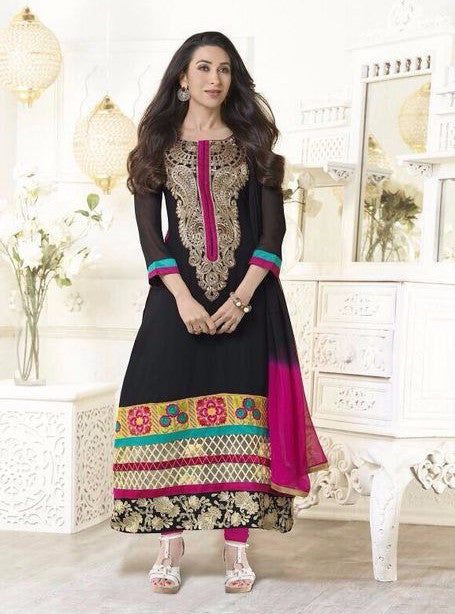 Krishma Kapoor Collection 5105  Black Color Georgette Designer Suit