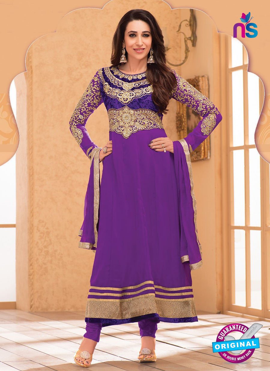 NS10848 Purple and Golden Georgette Anarkali Suit