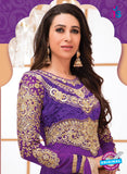 NS10848 Purple and Golden Georgette Anarkali Suit Online Shopping
