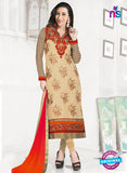 NS10850 Sandy Brown and Deep Orange Heavy Georgette Straight Suit