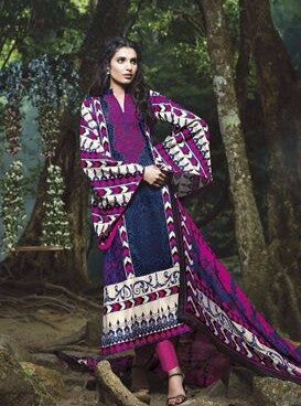 Lamhe 25005A  Purple Color Pashmina Designer Suit