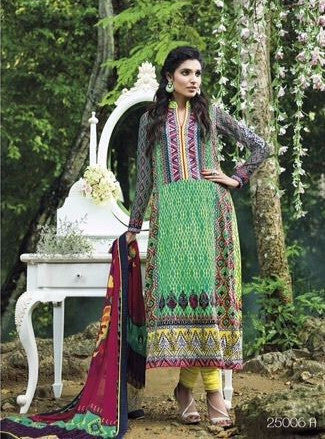Lamhe 25006A  Green Color Pashmina Designer Suit