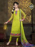 London Dreams 6004  Green Color Chiffon Long Designer Suit