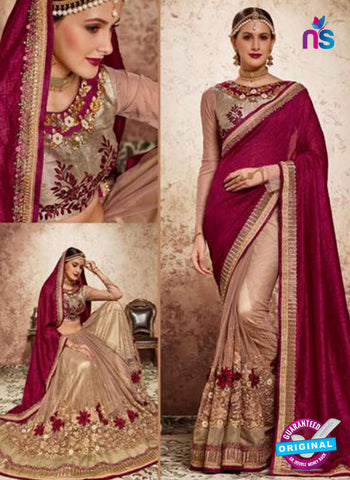 MZ 13916 Beige Party Wear Saree