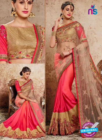 MZ 13917 Peach Party Wear Saree