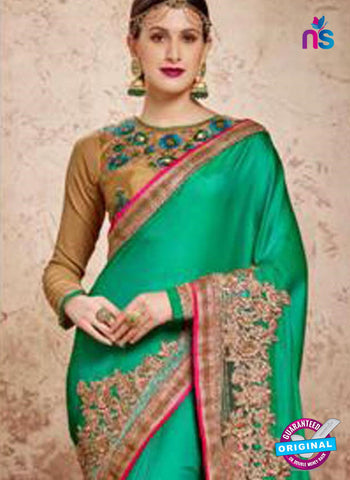 MZ 13918 Green Party Wear Saree