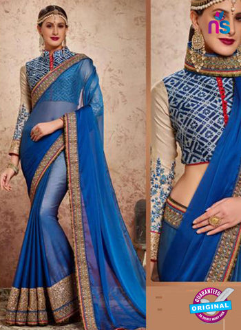 MZ 13919 Blue Party Wear Saree