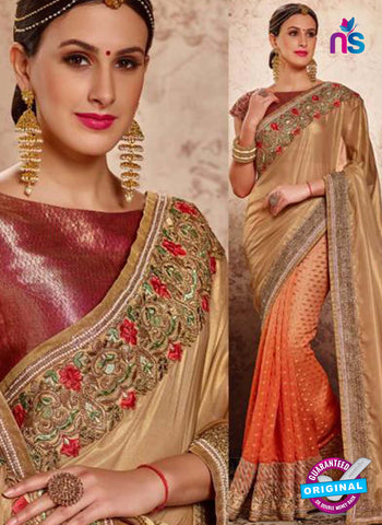 MZ 13920 Orange Party Wear Saree