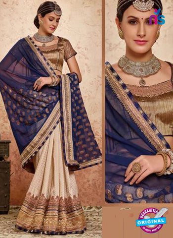 MZ 13921 Beige Party Wear Saree