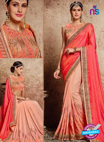 MZ 13922 Peach Party Wear Saree