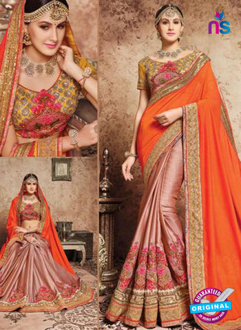 MZ 13923 Orange Party Wear Saree