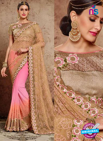 MZ 13924 Pink Party Wear Saree