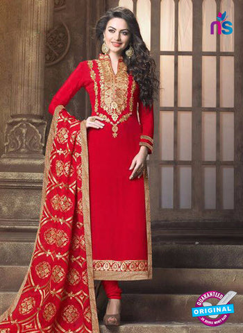 MZ 14836 Red Party Wear Suit