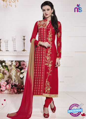 MZ 15065 Red Party Wear Suit
