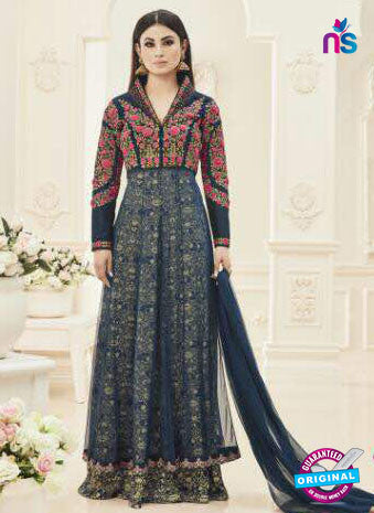 MZ 18001 Blue Anarkali Suit
