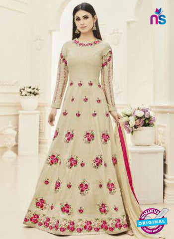 MZ 18003 Beige Anarkali Suit