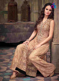 NS11061 LightBrown Party Wear Georgette Designer Maisha Suit