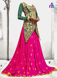 SC 12458 Firozi Blue and Pink Lahenga Choli