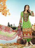 NS10615  Green Cotton Cotton Designer Suit