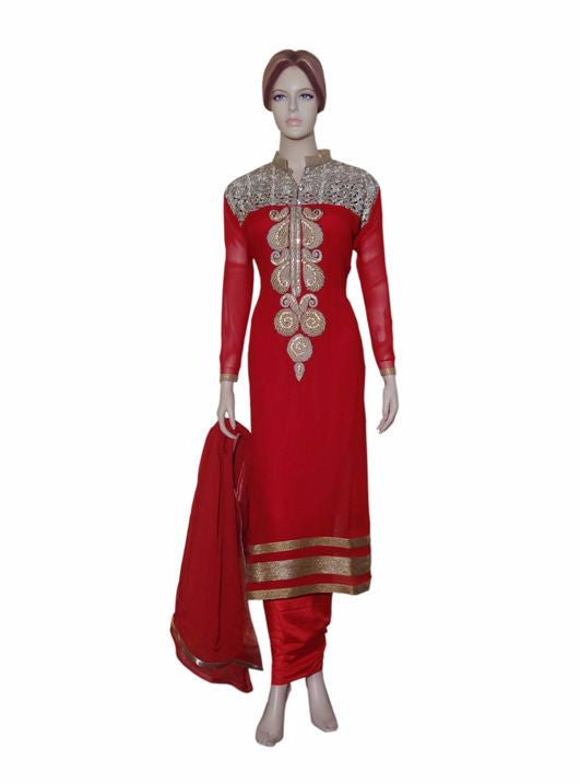 Maple 1005  Red Color Georgette Designer Suit