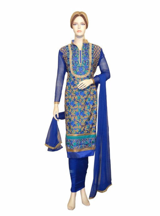 Maple 1007  Blue Color Georgette Designer Suit