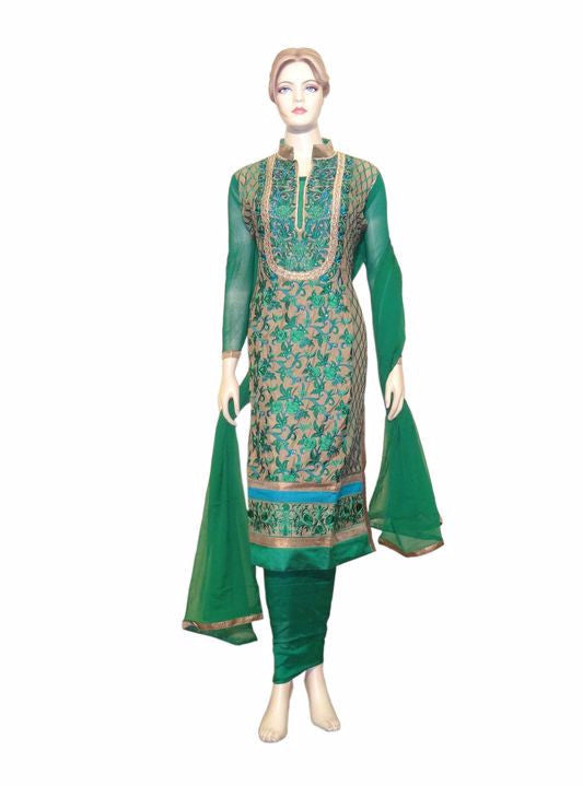Maple 1008  Green Color Georgette Designer Suit