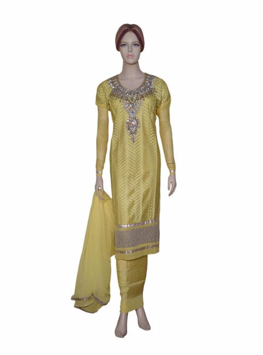 Maple 1016  Yellow Color Georgette Designer Suit