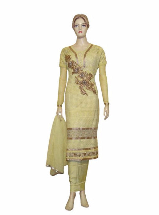 Maple 1023  Yellow Color Georgette Designer Suit