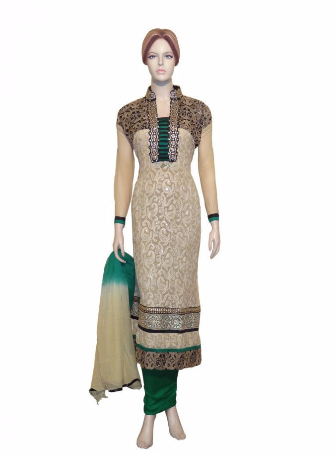Maple 1026  Beige Color Georgette Designer Suit